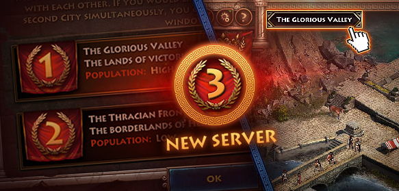 New Server | Sparta: War of Empires MMO Game